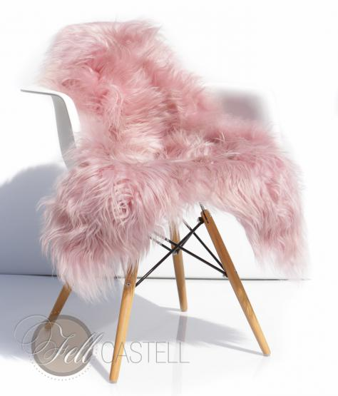 Island Schaffell Pastell Rosa-Flieder 100 x 55 cm Puder Quarz-Rosa Baby Rosa | 100 x 55 cm
