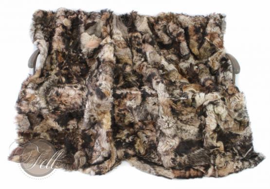 Lammfelldecke Toscana Lammfell Brauntöne 200 x 155 cm Patchwork