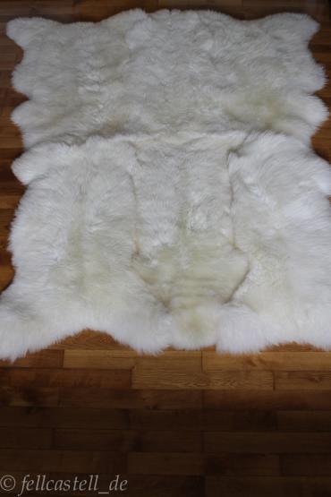 Merino Schaffell Teppich naturweiss 8 Schaffelle