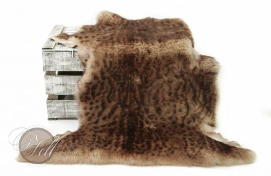Toscana Lammfell Lynx Print Velourleder Rot