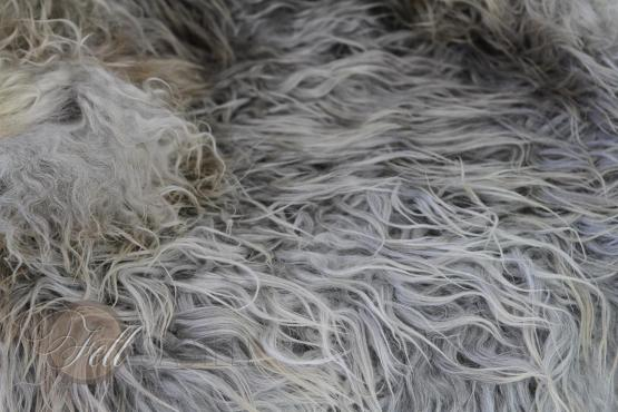 Gotland Schaffell Gotlandfell Grau gelockt 115x67 cm