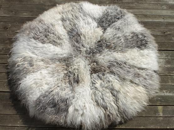 Gotland Schaffell Teppich Durchmesser 110 cm