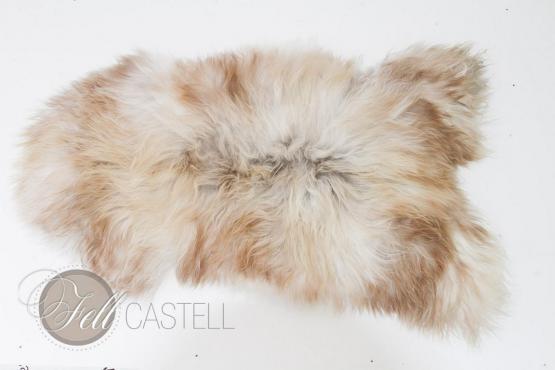 Island Schaffell Weiss-Braun-Grau ungefärbt 110x65 cm
