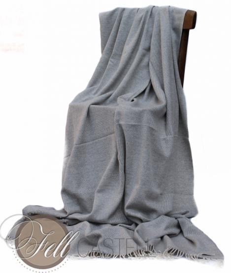 Kaschmir Decke 200 x 140 cm 100% Kaschmir Handarbeit Nepal blau