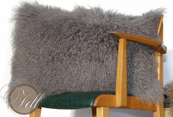Kissen Tibet Lammfell Stone Grey 30 x 30 cm 30 x 30 cm