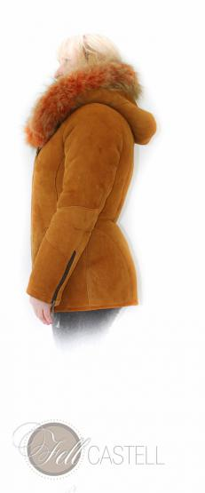 Lambskin hooded Jacket Sheepskin Size 36