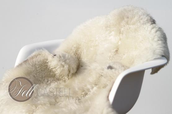 Skandinavisches Schaffell weiß ungefärbt 100 x 72 cm