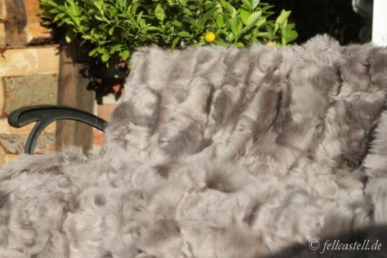 Real Toscana Shearling blanket, throw 78x61 inch