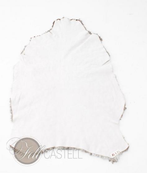 Gotland Schaffell   Gotlandfell grau gelockt 98x60 cm