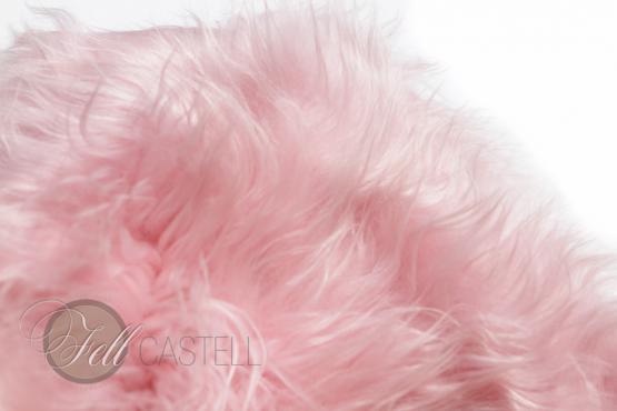 Island Schaffell Puder Rosa Pastell Flieder-Rosa Quarz Rosa 95 x 50 cm Baby Rosa   95 x 50 cm