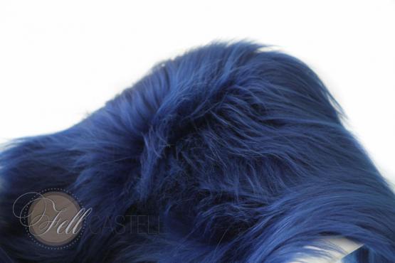 Island Schaffell dunkel Blau