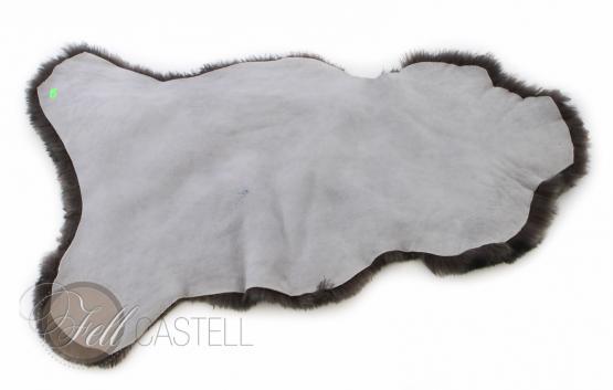 lammfell schaffell grau meliert grau 95 x 45 cm grau 95 x 45 cm lammfell schaffell shop. Black Bedroom Furniture Sets. Home Design Ideas