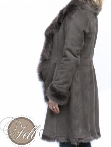 "Lammfellmantel aus Toscana Lammfell ""Cathérine"" 85 cm lang"