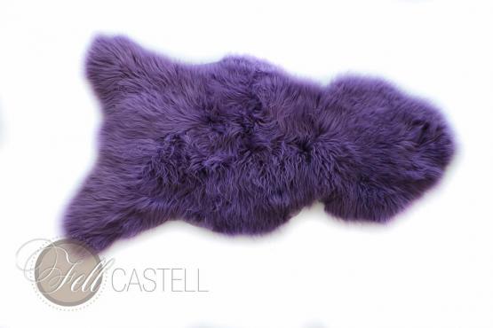 Schaffell Lammfell Lila Violet