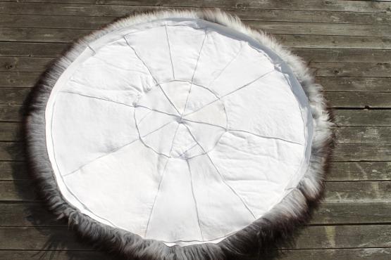 Schaffell Teppich rund 120 cm
