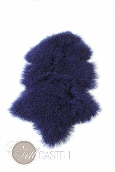 Tibet Lammfell Mongolisches Lammfell Dark Blue