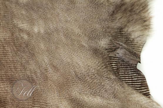 Toscana Lammfell Beige brauner Print Velourleder Braun