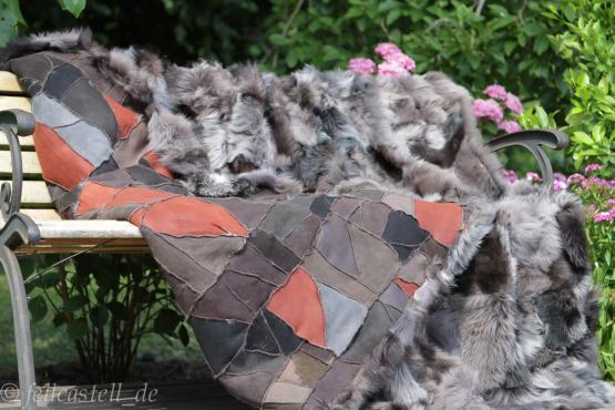 Lammfelldecke 200 x 155 cm Toscana Lammfell moonrock