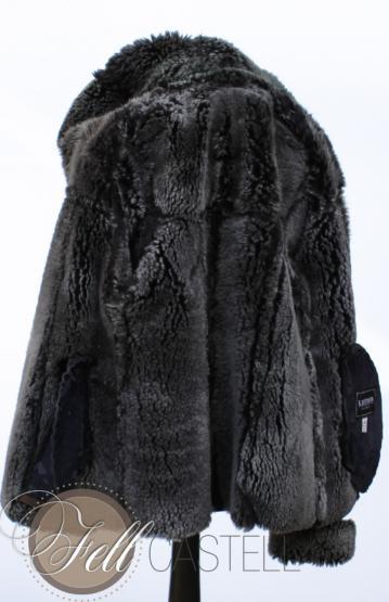 Lammfelljacke Kapuzenjacke Damen schwarz Gr. 40