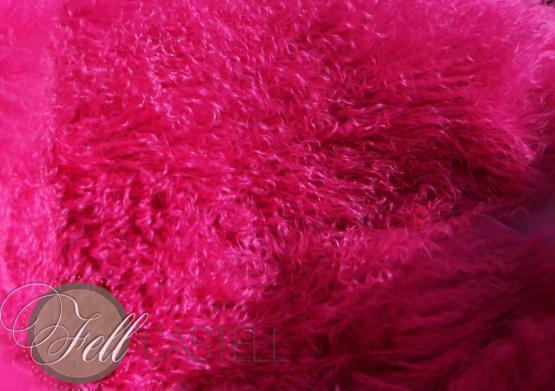 Tibetlammfell hot pink 85 cm Mongolisches Lammfell 59,- EUR