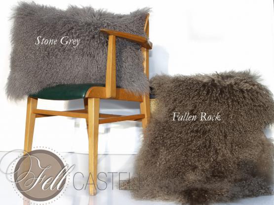 Kissen Tibet Lammfell Stone Grey 40 x 40 cm 40 x 40 cm