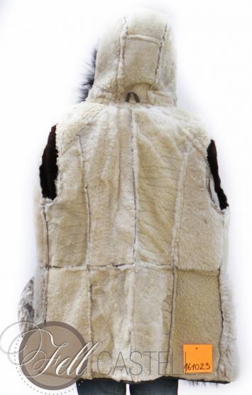 Lammfelljacke Damen Gr. 40/42 Antikleder Grau Merino Lammfell