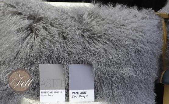 Stola Boa Schal Tibet Lammfell stone grey 150 cm
