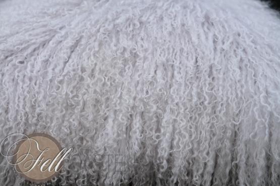 Tibet Lammfell Kissen Tibetlammfell cool grey