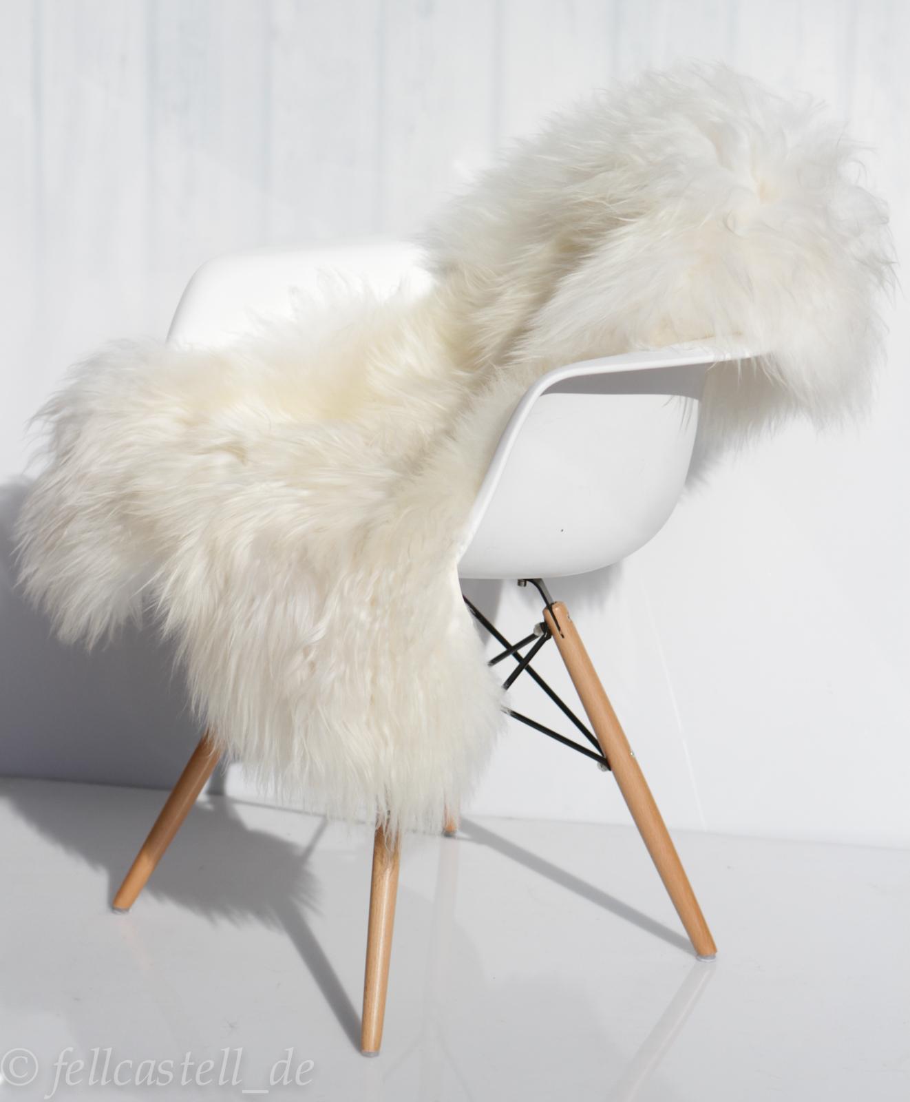 island schaffell naturwei ungef rbt 95 cm island lammfell langer flor lammfell schaffell shop. Black Bedroom Furniture Sets. Home Design Ideas