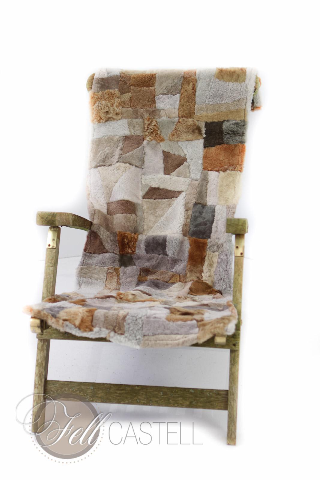 kleine lammfell decke 155x55 cm patchwork r ckseite leder multicolor lammfell schaffell shop. Black Bedroom Furniture Sets. Home Design Ideas