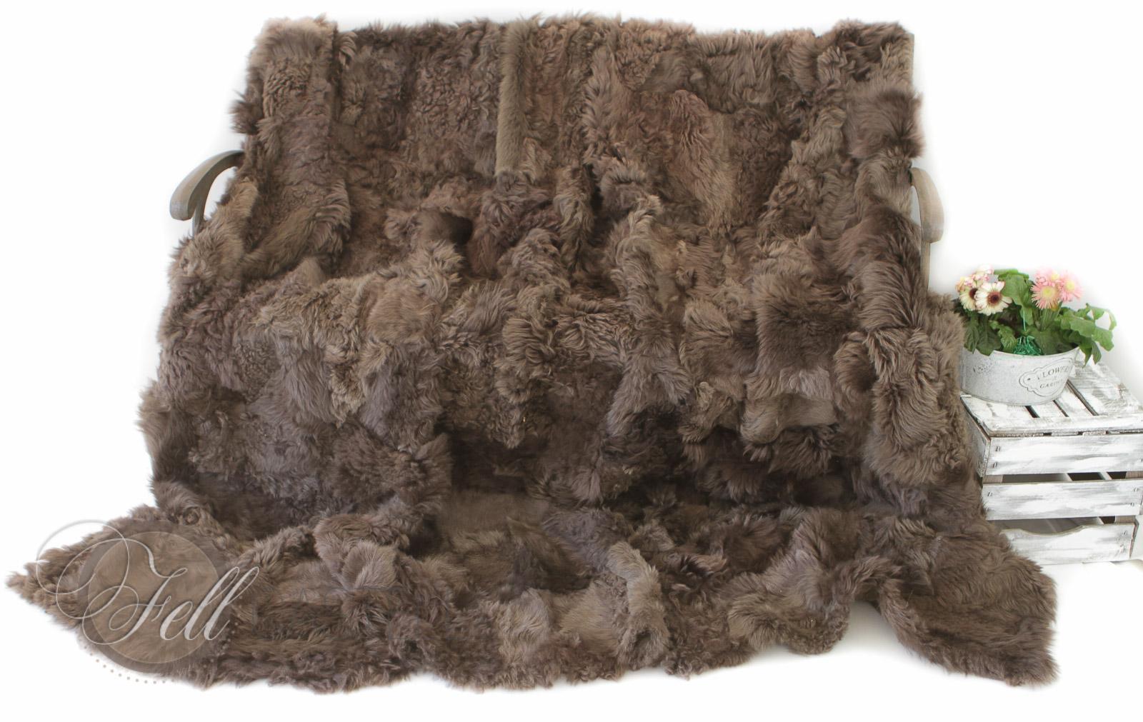 lammfell decke toscana lammfell 220x200 cm braun r ckseite leder lammfell schaffell shop. Black Bedroom Furniture Sets. Home Design Ideas