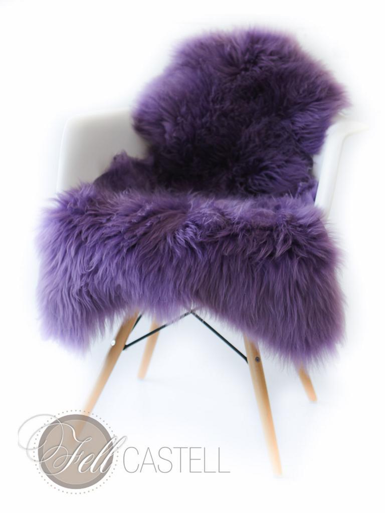 schaffell lammfell lila violet lammfell schaffell shop. Black Bedroom Furniture Sets. Home Design Ideas