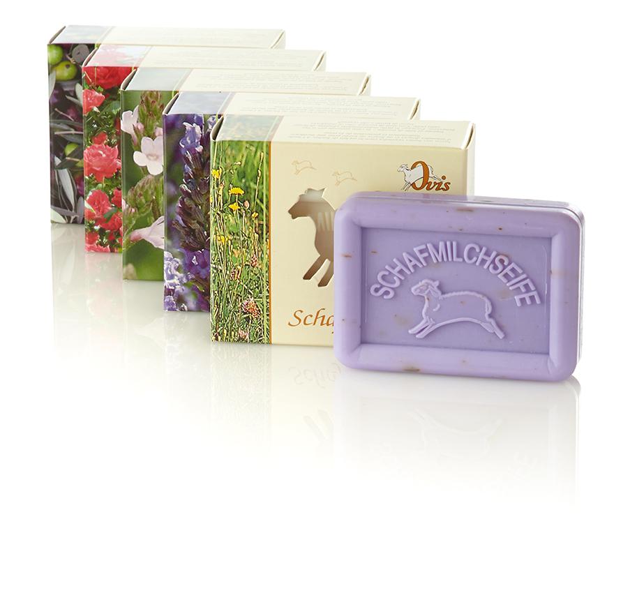 Schafmilch Seife 100g Eckig im Einzelkarton verschiedene Sorten