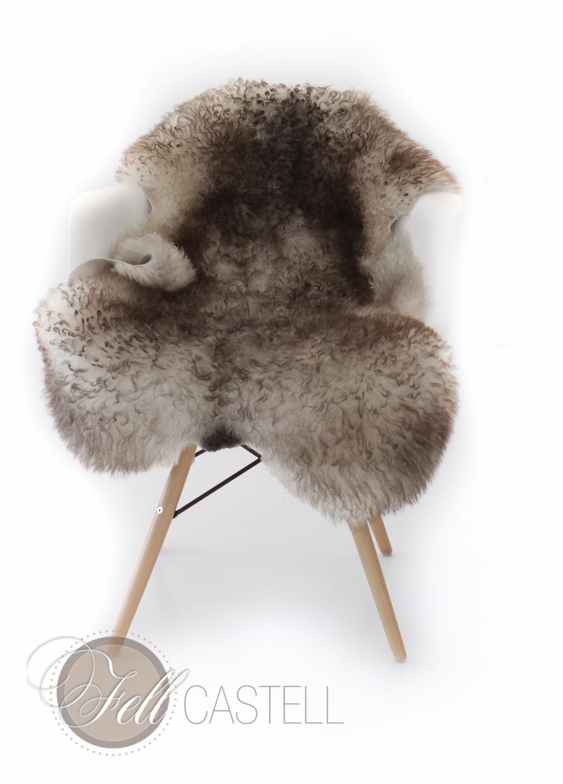 skandinavisches schaffell wei mit graubraunen spitzen ungef rbt 98 x 61 cm lammfell. Black Bedroom Furniture Sets. Home Design Ideas