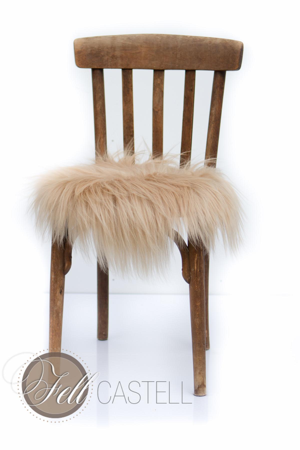 stuhlauflage aus island schaffell toffee 38 cm ungepolstert sitzauflage lammfell lammfell. Black Bedroom Furniture Sets. Home Design Ideas