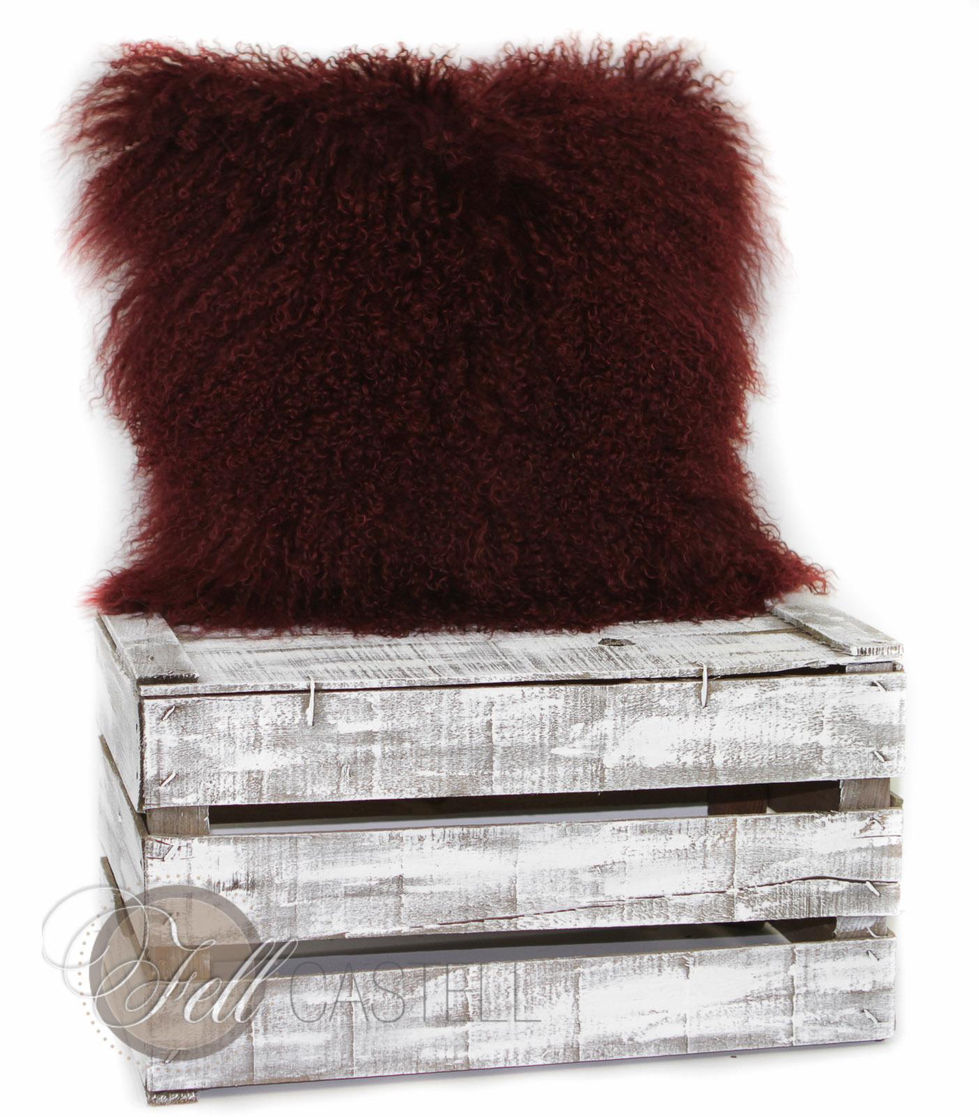 poduszka ze skóry owcy tybetanskiej szara briesa 50 x 50 cm 50 x 50 cm