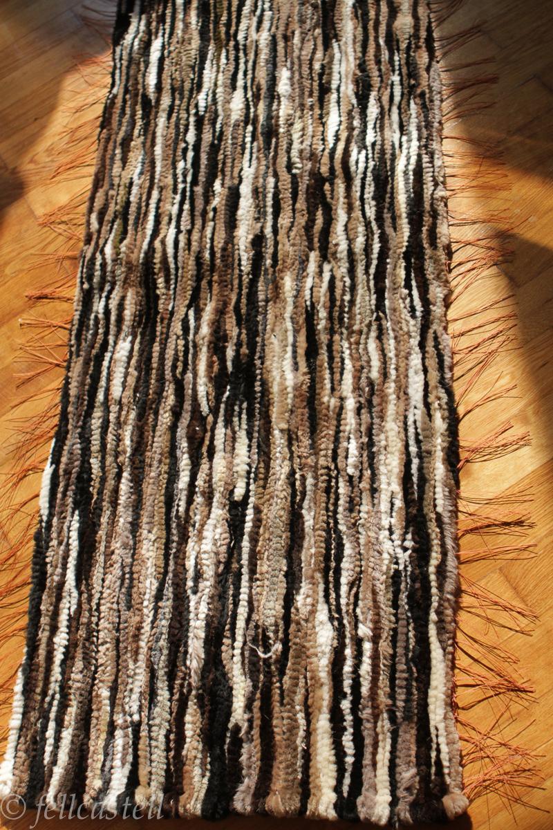 Lammfell Webteppich 150 x 55 cm Multicolor