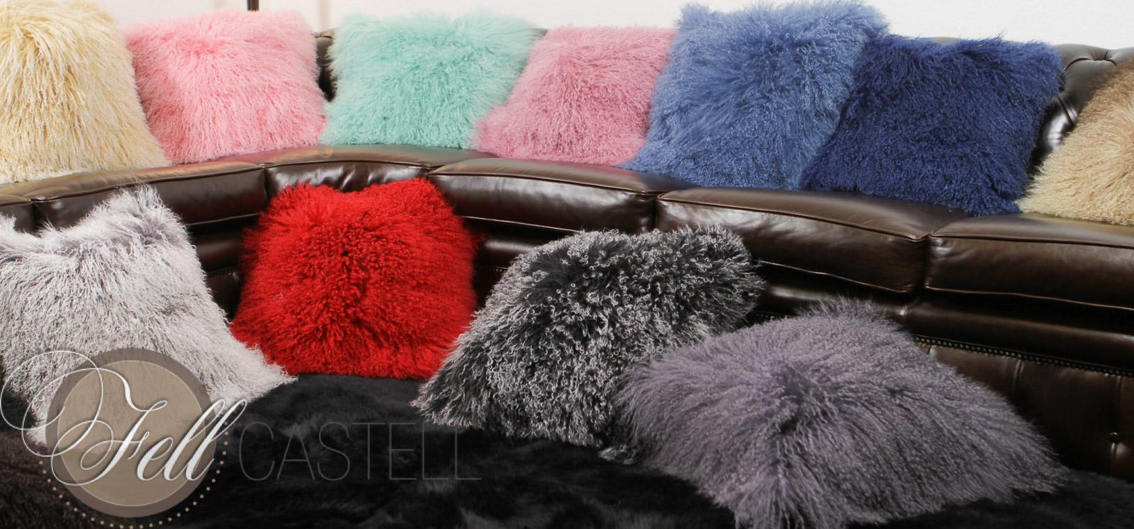 tibetlammfell kissen fellkissen 30 x 30 cm. Black Bedroom Furniture Sets. Home Design Ideas