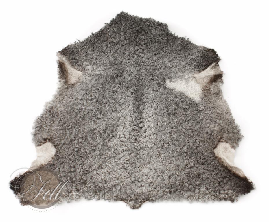 Real Curly Gotland Sheepskin Grey