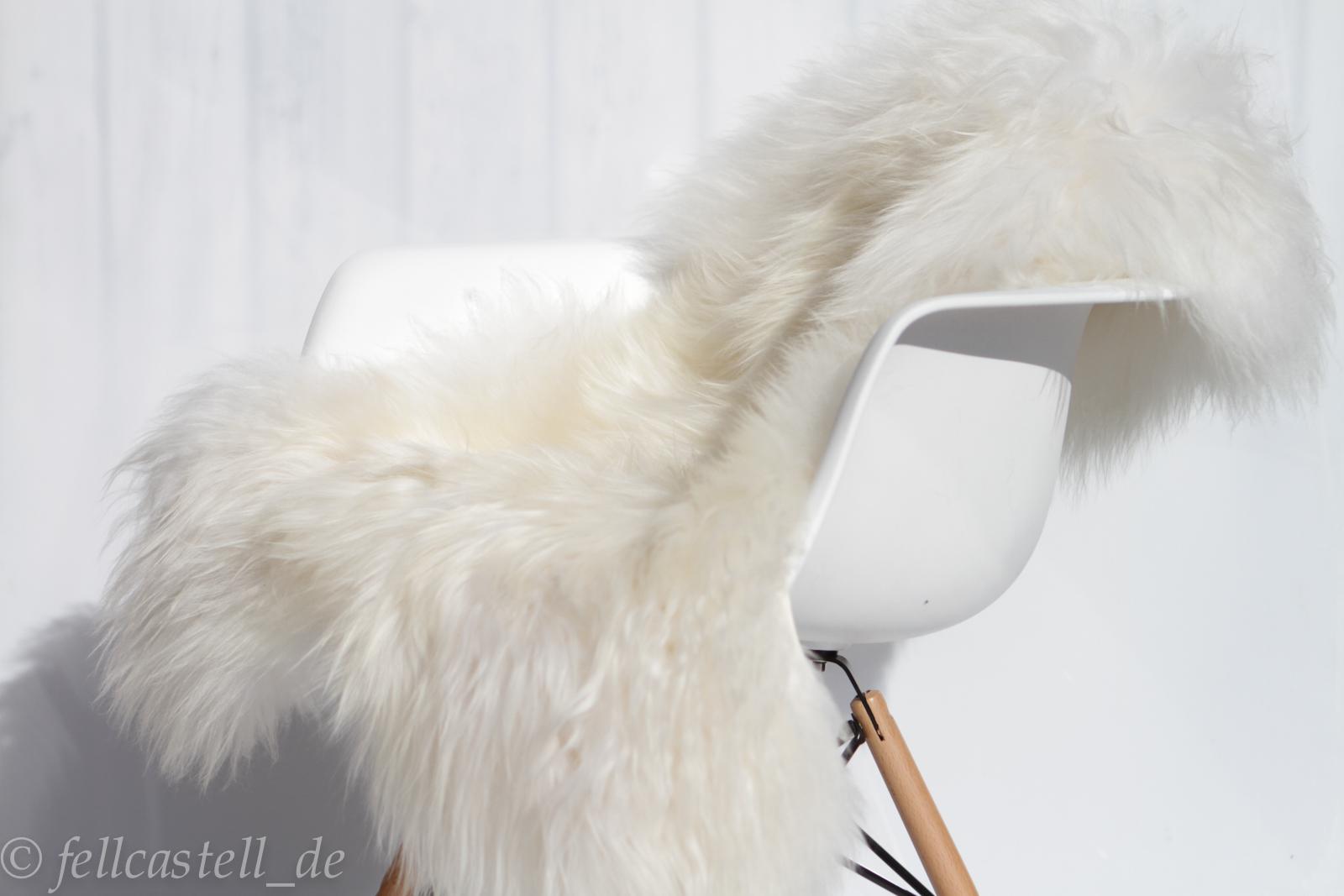 Island Schaffell naturweiss 100 cm