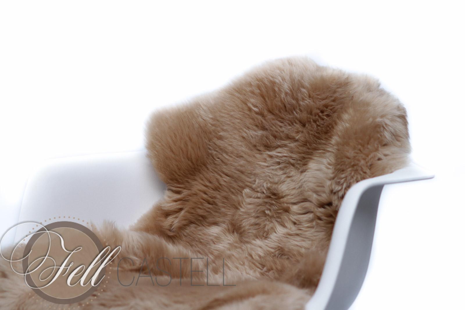 Lammfell | Schaffell toffee hellbraun 100 cm