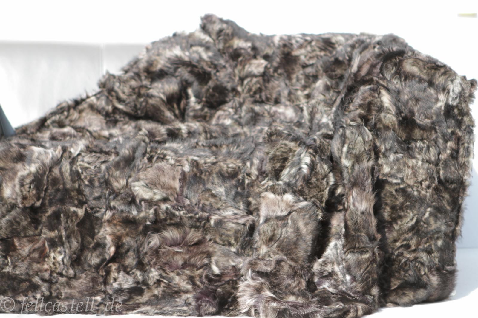Lammfelldecke Toscana Lammfell 200 x 155 cm Brauntöne #64