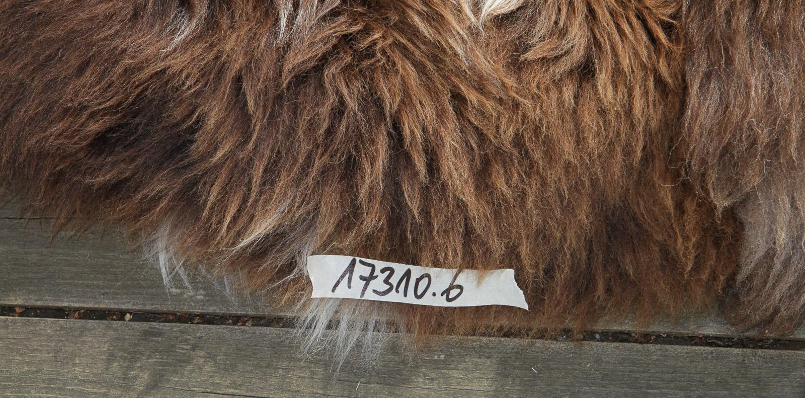 Schaffell-Teppich rund 110 cm