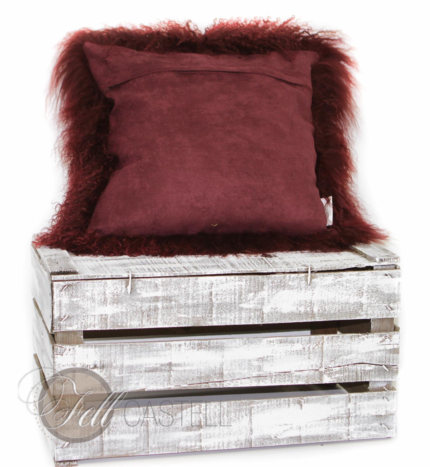 poduszka ze skóry owcy tybetanskiej szara briesa 30 x 30 cm 30 x 30 cm