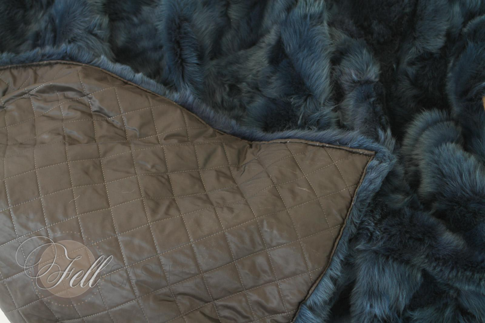 lambskin blanket 78x61 inch petrol toscana shearling patchwork