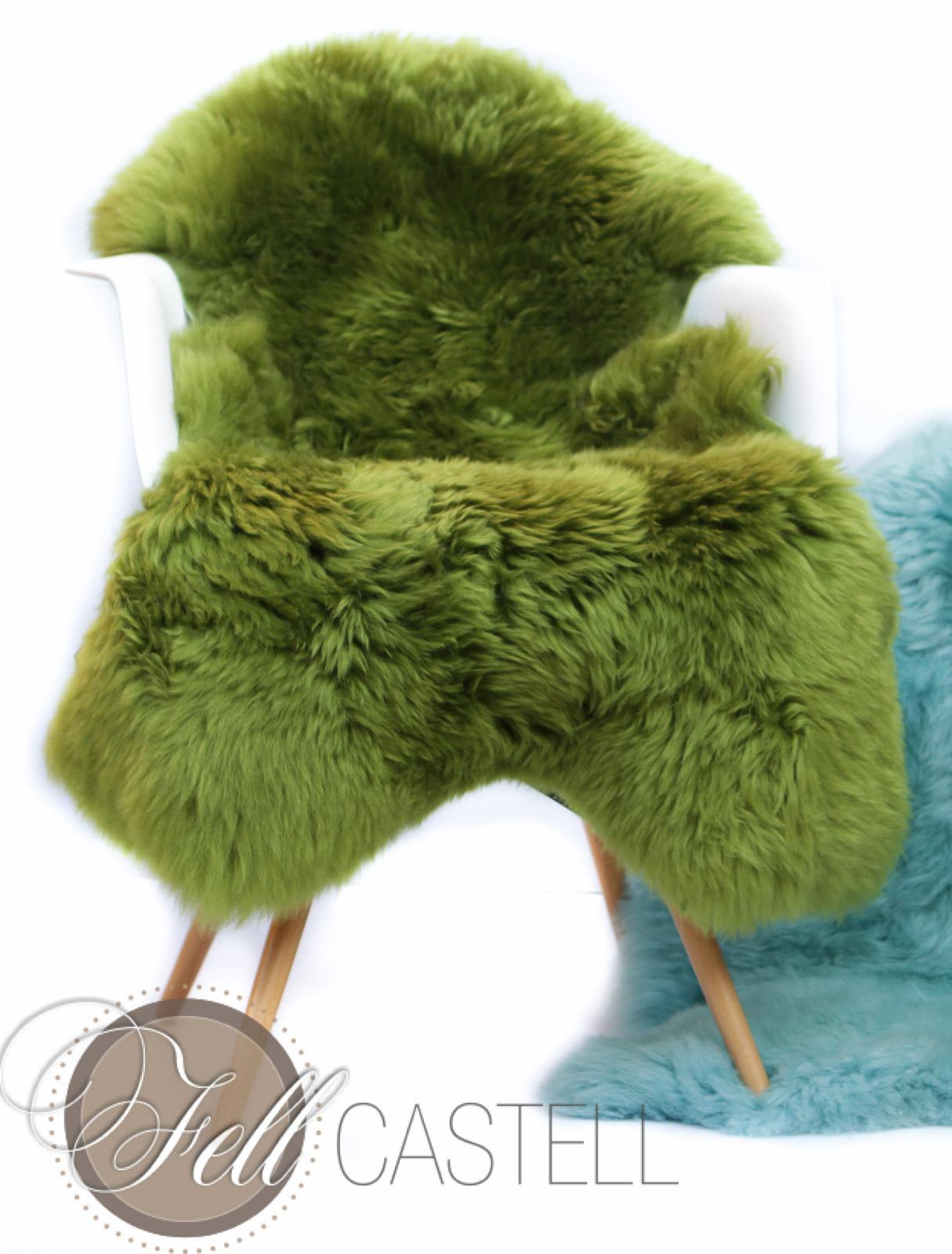 schaffell lammfell in gr n gef rbt. Black Bedroom Furniture Sets. Home Design Ideas