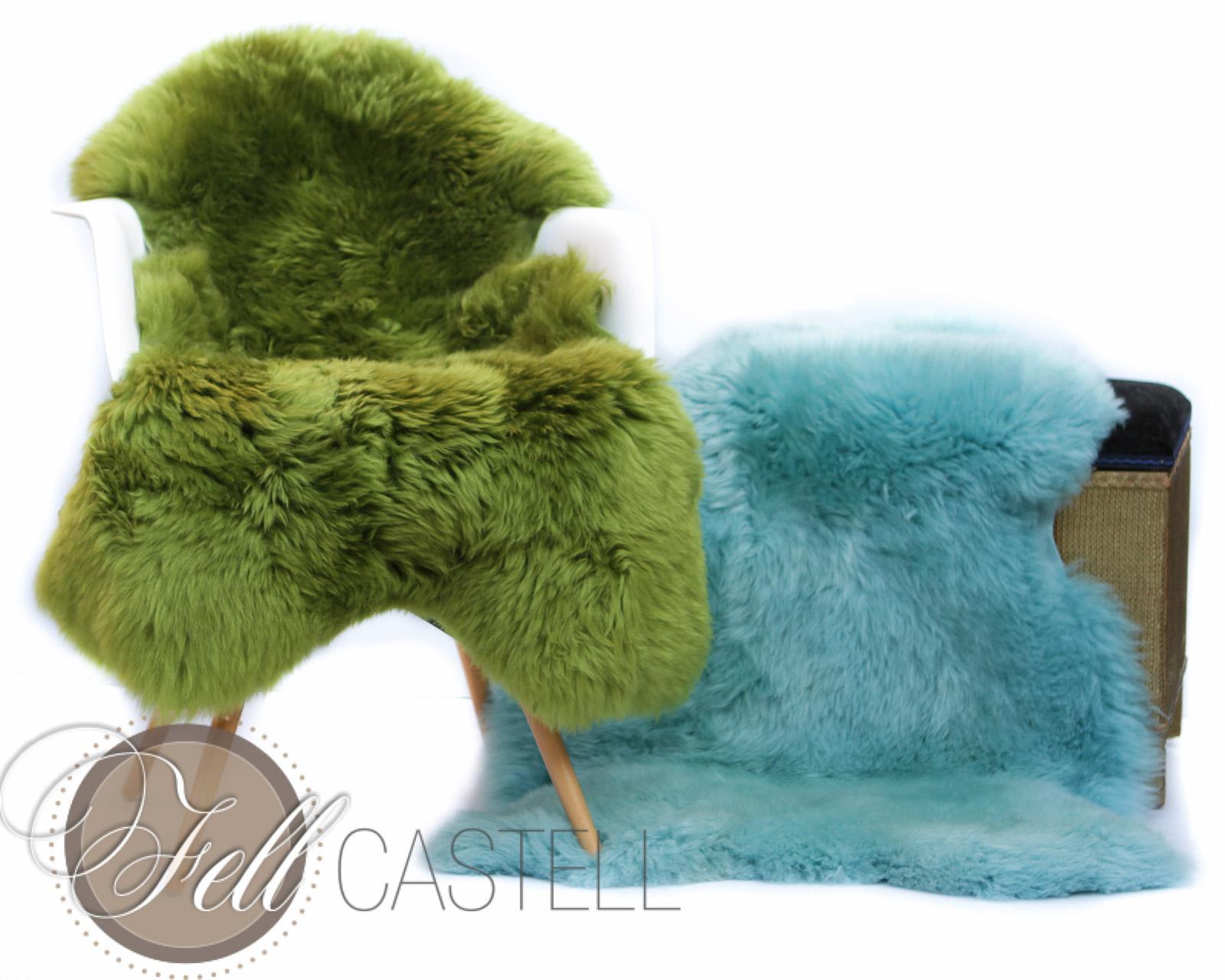 Lammfell | Schaffell türkis hell