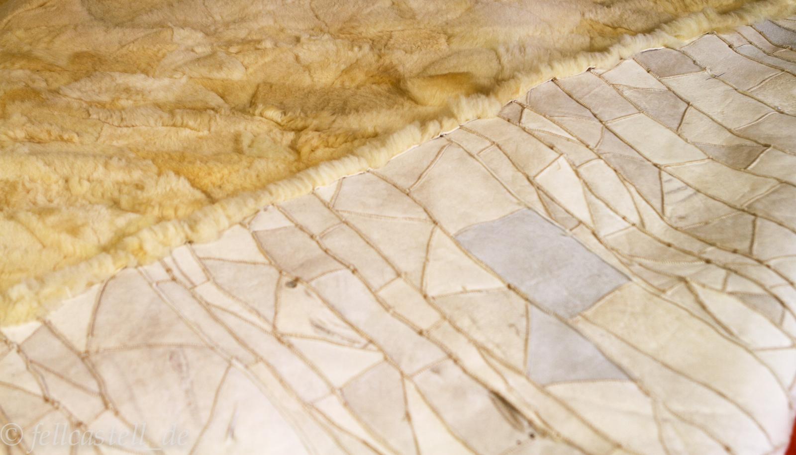 Lammfell Bettauflage Betteinlage Unterbett med. Gerbung Patchwork