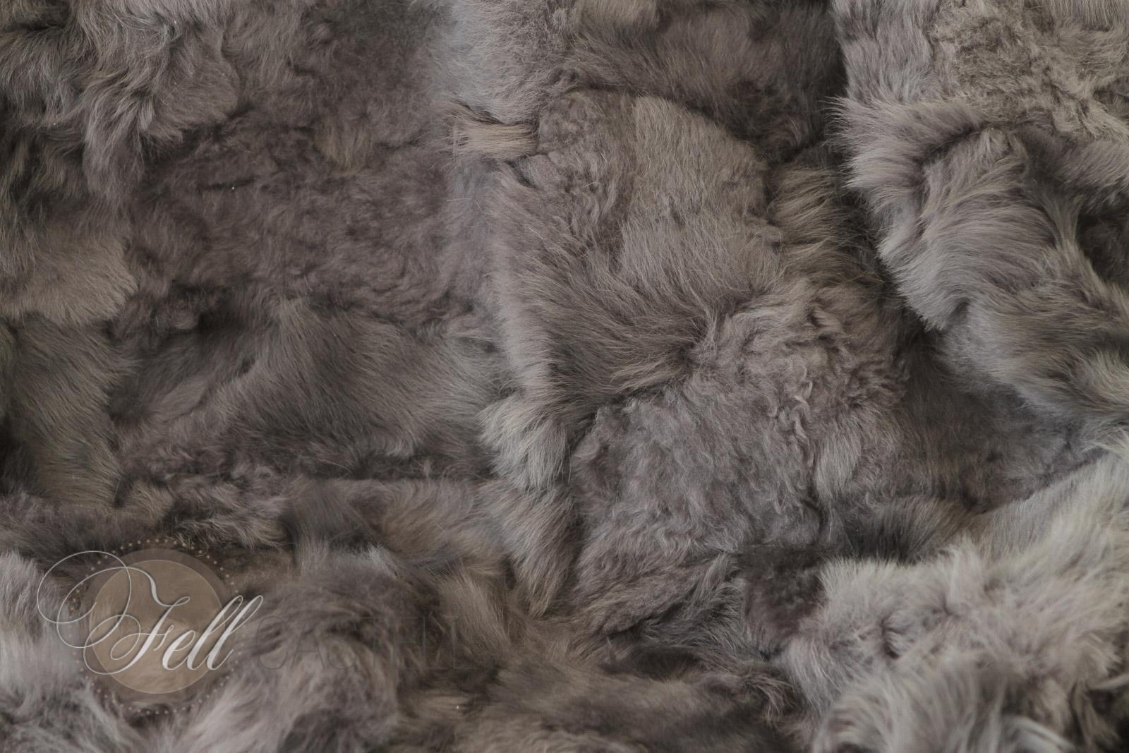 Lammfell Decke Patchwork Braun abgefüttert Toscana Lammfell