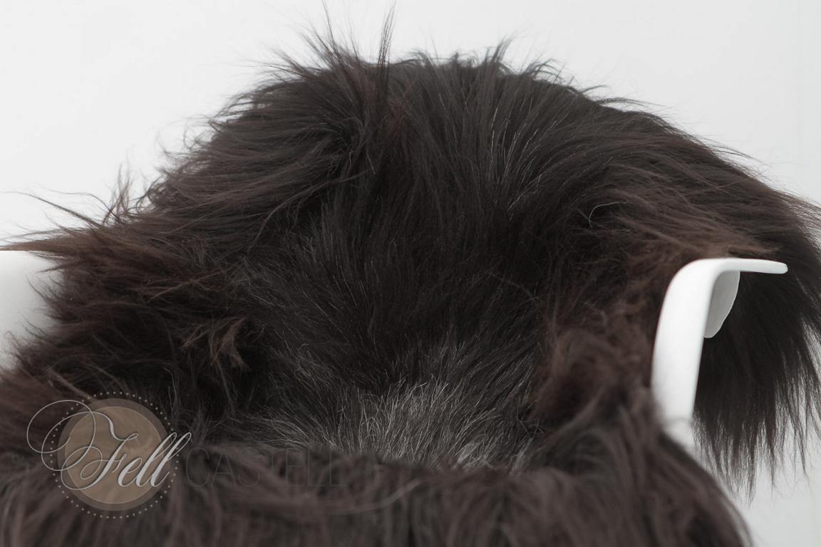 Schaffell Heidschnucke Braun-Grau ungefärbt